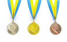 Заготовка медали спортивной с лентой SKILL d-5см (металл, 25g, 1-золото, 2-серебро, 3-бронза) PZ-C-4845, фото 2