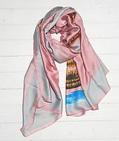 Шелковый шарф Fashion Лилиана 190*100 см пудровый, фото 1