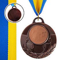 Медаль спортивная с лентой AIM d-5см Музыка (металл, 25g, 1-золото, 2-серебро, 3-бронза) Бронзовый PZ-C-4846-0067_1, фото 3
