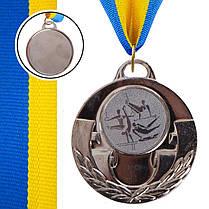 Медаль спортивная с лентой AIM d-5см Спорт.гимнаст. (металл, 25g, 1-золото, 2-серебро, 3-бронза) Бронзовый PZ-C-4846-0075_1, фото 2