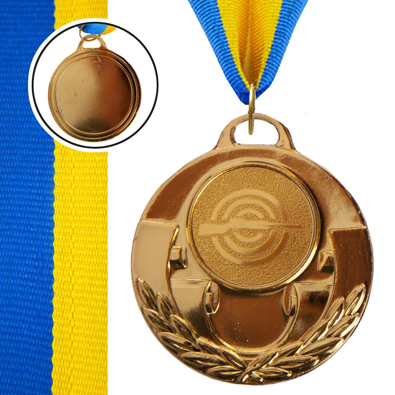 Медаль спортивная с лентой AIM d-5см Стрельба (металл, 25g, 1-золото, 2-серебро, 3-бронза) Золотой PZ-C-4846-0005_1