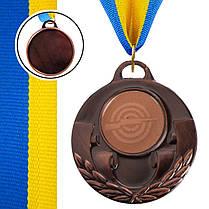 Медаль спортивная с лентой AIM d-5см Стрельба (металл, 25g, 1-золото, 2-серебро, 3-бронза) Золотой PZ-C-4846-0005_1, фото 3