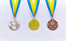 Медаль спортивная с лентой AIM d-5см (металл, 25g, 1-золото, 2-серебро, 3-бронза) Золотой PZ-C-4842_1, фото 2