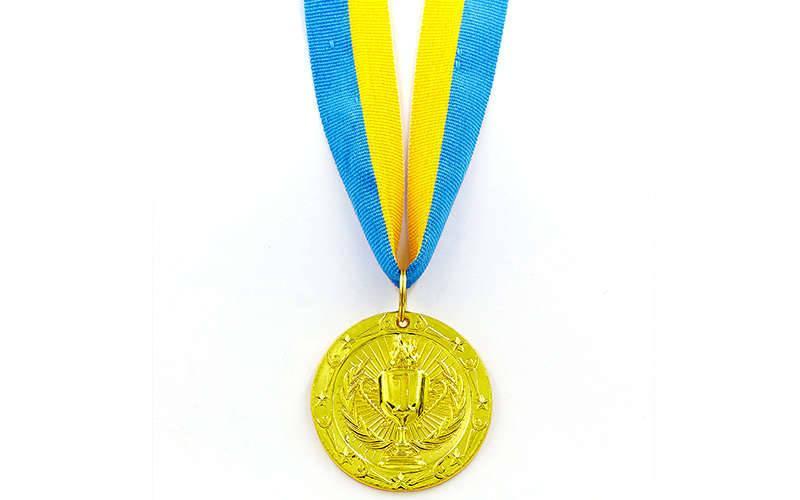 Медаль спортивная с лентой BOWL d-4,5см (металл, d-4,5см, 20g 1-золото, 2-серебро,3-бронза) Золотой PZ-C-6402_1