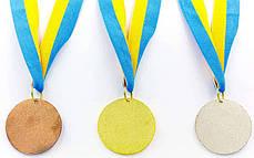 Медаль спортивная с лентой BOWL d-4,5см (металл, d-4,5см, 20g 1-золото, 2-серебро,3-бронза) Золотой PZ-C-6402_1, фото 3