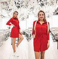 Сукня жіноча з куліскою по талії (6 кольорів) ТК/-1236 - Червоний, фото 1
