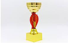 Кубок спортивный с местом под жетон h-19см (металл, пластик, h-19см, b-6см, d чаши-8см,золото) PZ-HQ905C, фото 2