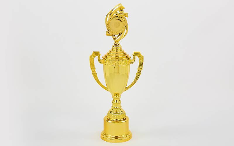 Кубок спортивный с ручками, крышкой и местом под жетон CHIC (h-46см, b-24см, d-19см,золото) PZ-C-8972B