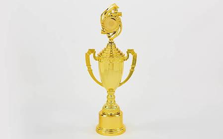 Кубок спортивный с ручками, крышкой и местом под жетон CHIC (h-46см, b-24см, d-19см,золото) PZ-C-8972B, фото 2