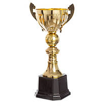 Кубок спортивный с ручками (металл, пластик, h-38см, b-20см, d чаши-12см, золото) PZ-2173B, фото 2