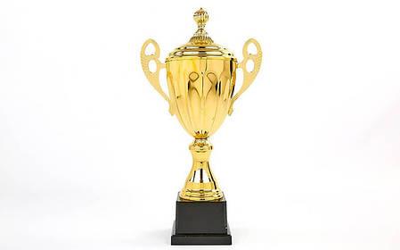 Кубок спортивный с ручками и крышкой GREAT (металл, h-45см, b-22см, d чаши-14см, золото) PZ-C-4060B, фото 2
