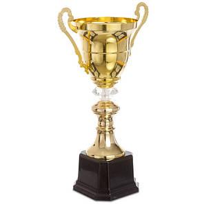 Кубок спортивный с ручками (металл, пластик, h-41,5см, b-24,5см, d чаши-14см, золото) PZ-2181A, фото 2