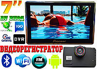 GPS навигатор видеорегистратор Pioneer 7', Android,WIFI,DVR,AV вход,Bluetooth, карты!