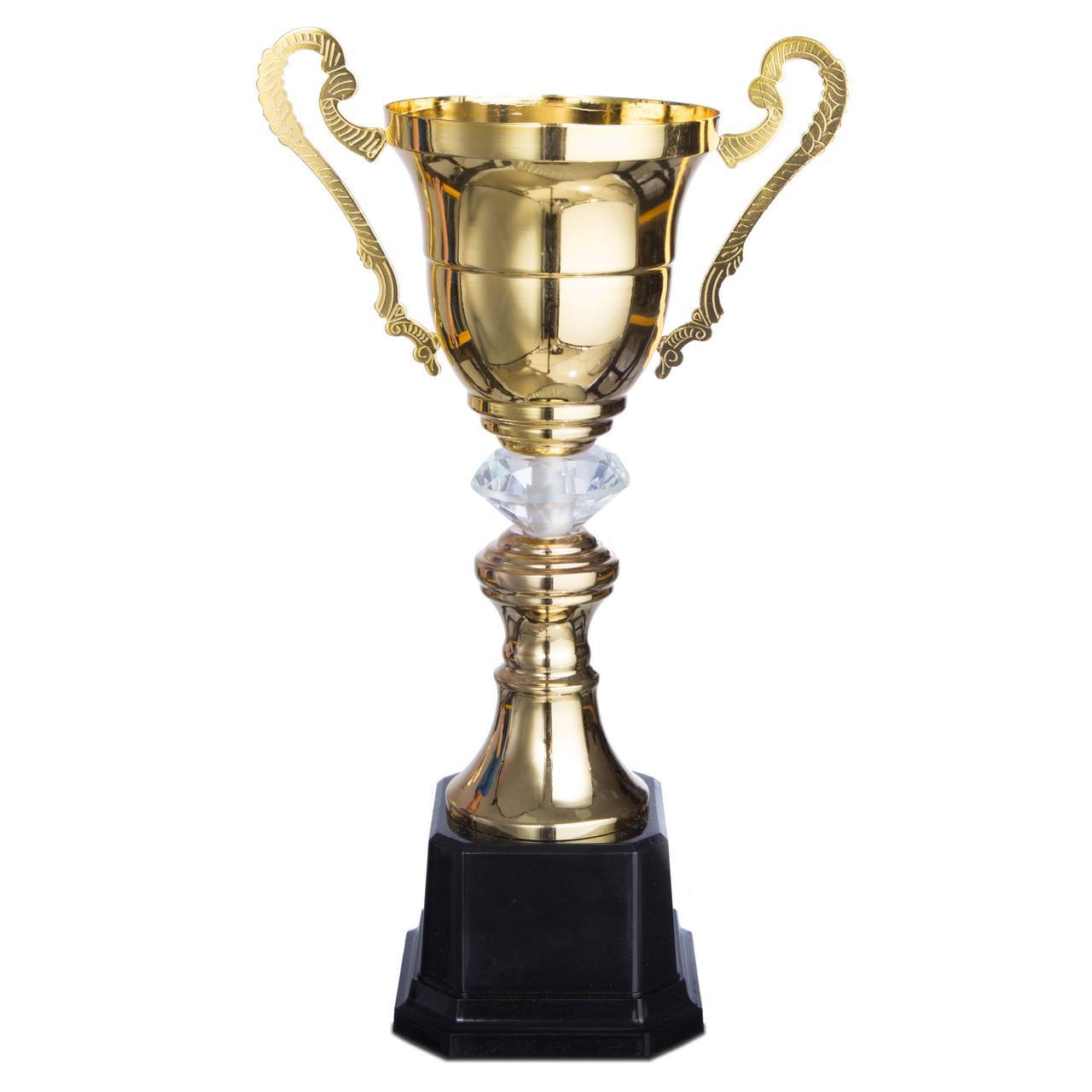 Кубок спортивный с ручками (металл, пластик, h-37см, b-21см, d чаши-12см, золото) PZ-2181B