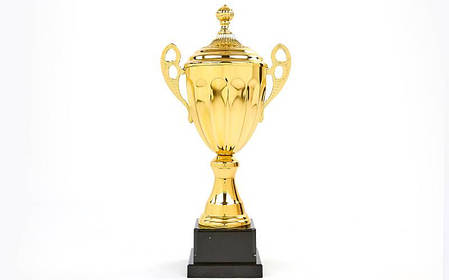 Кубок спортивный с ручками и крышкой GREAT (металл, h-34см, b-16см, d чаши-10см, золото) PZ-C-4060D, фото 2