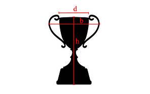 Кубок спортивный с ручками и крышкой h-30см (пластик, h-30см, b-14см, d чаши-9см, золото) PZ-C-895-2, фото 2