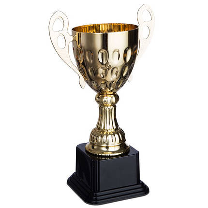 Кубок спортивный с ручками (металл, пластик, h-26см, b-см, d чаши-см, золото) PZ-4045D, фото 2