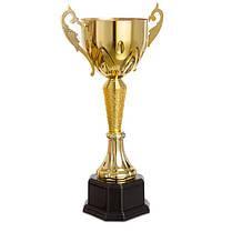 Кубок спортивный с ручками (металл, пластик, h-42см, b-см, d чаши-см, золото) PZ-9985A, фото 2