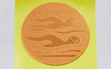 Наклейка (жетон) на медаль, кубок d-2,5см Плавание (1,2,3 место, 1уп.-120шт, цена за 1шт) Золотой PZ-25-0090_1, фото 3