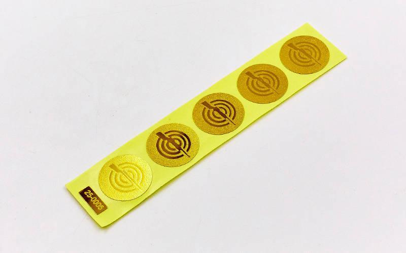 Наклейка (жетон) на медаль, кубок d-2,5см Стрельба (1, 2, 3 место, 1уп.-120шт, цена за 1шт) Золотой PZ-25-0005_1