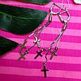 Серебряные серьги крестики - Серьги Кресты висячие серебро, фото 5