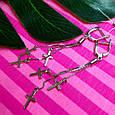 Серебряные серьги крестики - Серьги Кресты висячие серебро, фото 4
