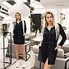 Сукня жіноча з куліскою по талії (6 кольорів) ТК/-1236 - Чорний