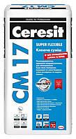 Клей для плитки эластичный Ceresit CM 17 (Церезит СМ 17) 25 кг