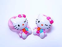 """Детские резинки для волос """"Kitty"""" пара  2 шт., цвет розовый"""