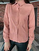 Женская рубашка / микровельвет / Украина 13-246, фото 1