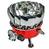 Газовая печь примус Kovar K-203 туристическая с защитой от ветра, фото 3