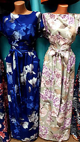 Женское  длинное платье  нарядное ,44-64 размер №136-1