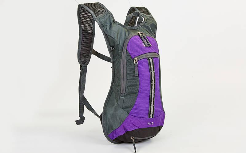 Рюкзак спортивный с жесткой спинкой (нейлон, 31х8х43см, цвета в ассортимете) Фиолетовый PZ-GA-2082_1