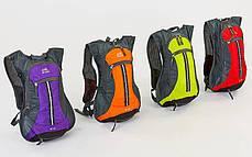 Рюкзак спортивный с жесткой спинкой (нейлон, 31х8х43см, цвета в ассортимете) Фиолетовый PZ-GA-2082_1, фото 2