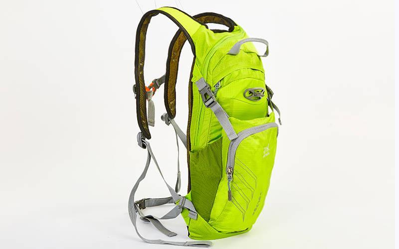 Рюкзак спортивный с жесткой спинкой (нейлон, 22х5х48см) Салатовый PZ-GA-2086_1