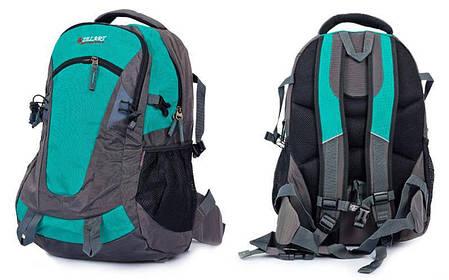 Рюкзак спортивный с жесткой спинкой Zelart (нейлон, 50х33х16см) Бирюзовый PZ-GA-3703_1, фото 2