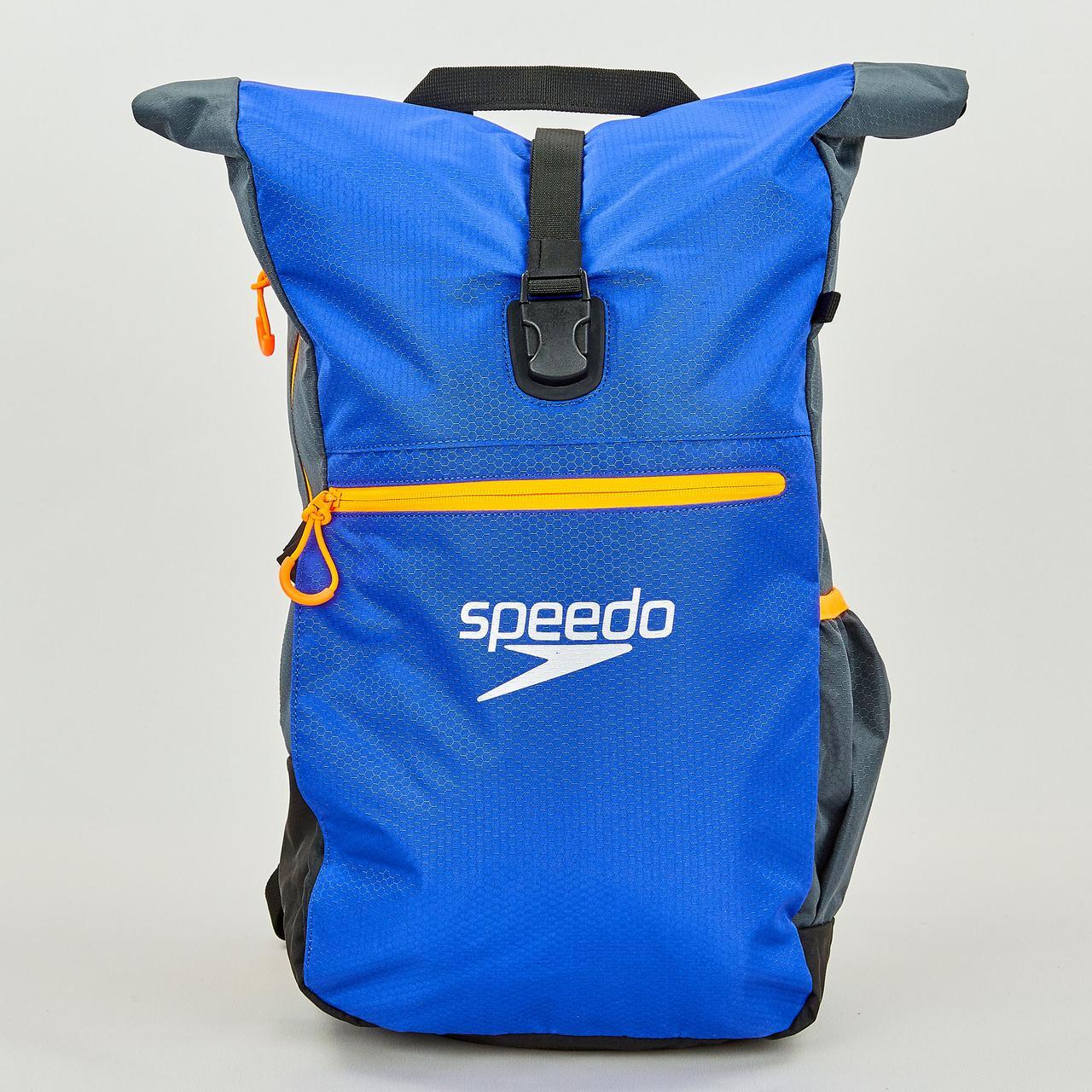 Рюкзак спортивный Speedo TEAM RUCKSACK III (полиэстер, 50х17х34см, синий-серый) PZ-807688C299