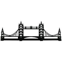 Вешалка настенная Tower Bridge (металлическая)