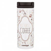 Стальная термокружка Contigo Twistseal Eclipse (470 мл) But First Coffee, фото 1