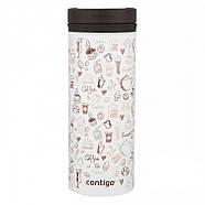 Стальная термокружка Contigo Twistseal Eclipse (470 мл) But First Coffee, фото 2