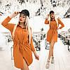 Сукня жіноча з куліскою по талії (6 кольорів) ТК/-1236 - Гірчичний