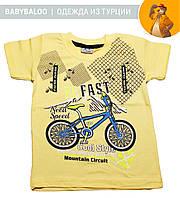 """Модная футболка для мальчика """"Велосипед"""" (от 1 до 4 лет)"""