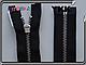 70см №3 1бег. черная YKK металл никель, фото 2