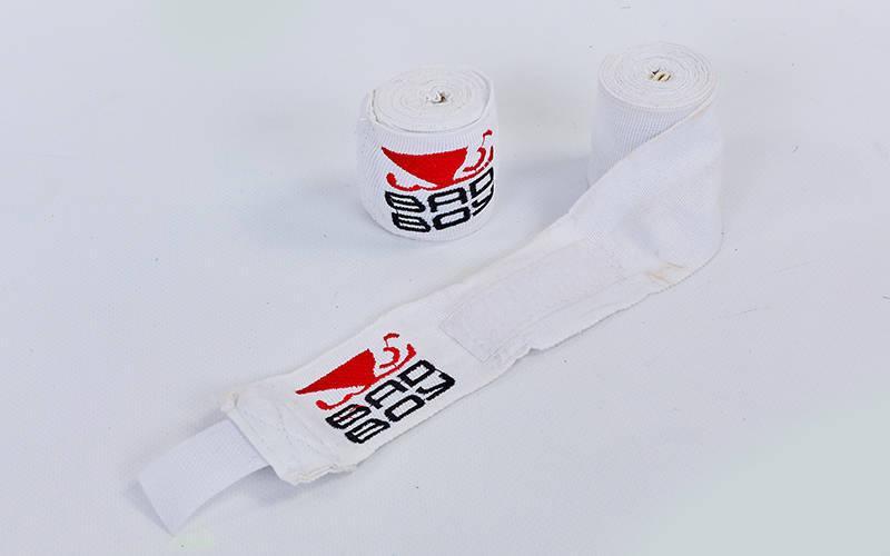 Бинты боксерские (2шт) хлопок с эластаном BDB (l-3м) Белый PZ-MA-5464-3_1
