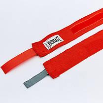 Бинты боксерские (2шт) хлопок с эластаном Everlast LEVEL 2 (l-4,50м) Белый PZ-4456_1, фото 2