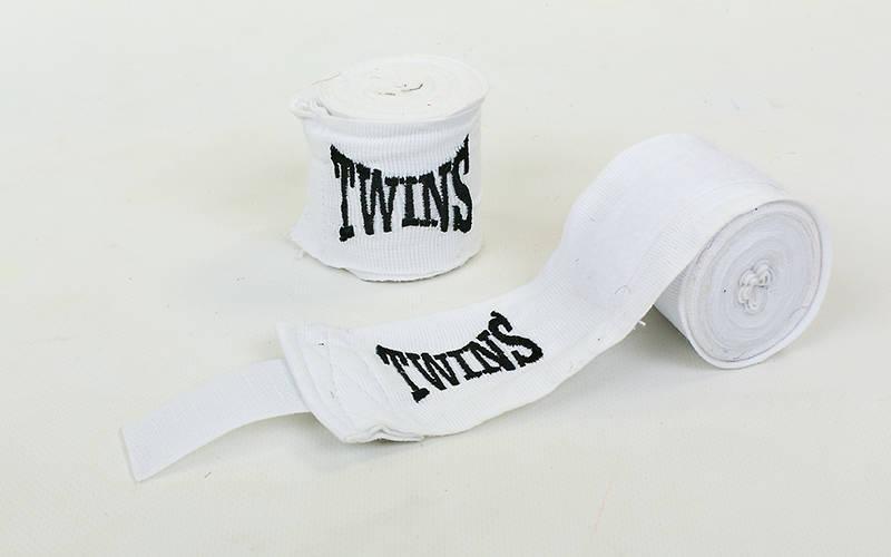 Бинты боксерские (2шт) хлопок с эластаном Twins (l-3м) Белый PZ-MA-5466-3_1