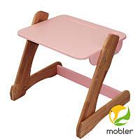 Столик розовый