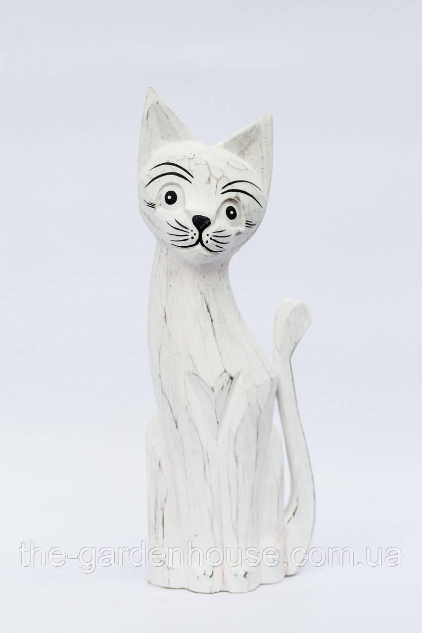 Статуэтка белого кота, 35 см