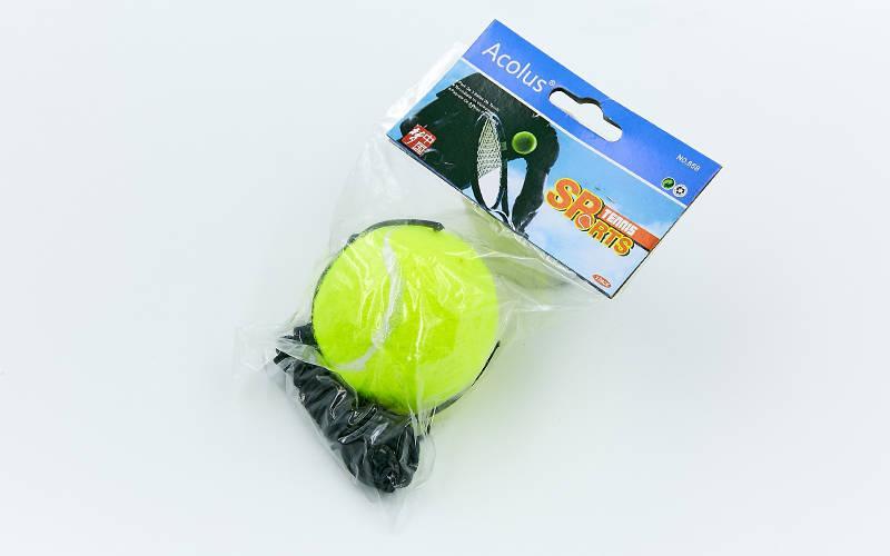 Теннисный мяч на резинке боксерский Fight Ball (пневмотренажер, салатовый) (1шт) PZ-858