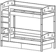 Кровать двухярусная трансформер 90*190